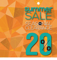 Summer Sale Modern Background vector image