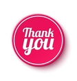 Thank you round label vector image