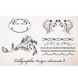 Vintage calligraphic design elements 3 vector image