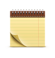 coil bound notebook vector image vector image