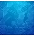 Blue Printed Circuit Board vector image