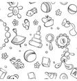 Seamless children background vector image