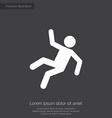 slippery floor premium icon vector image