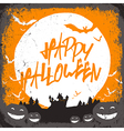 haunted castle halloween card vector image vector image