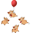 set funny dogs Cartoon vector image