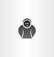 funny black icon man vector image