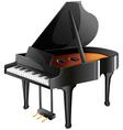 A musicians piano vector image