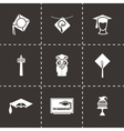 Academic cap icon set vector image