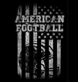 american football varsity t shirt graphics vector image