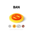 Ban icon in different style vector image