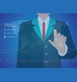 Businessman hand working with new modern computer vector image