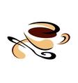 Cup of freshly brewed espresso coffee vector image