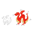 Dragon with wings vector image