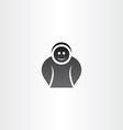 funny black icon man vector image