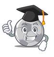 graduation football character cartoon style vector image