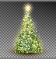 green abstract christmas tree eps 10 vector image