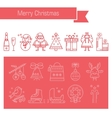 Linear icons Christmas vector image