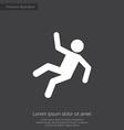 slippery floor premium icon vector image