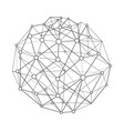 wireframe connecting sphere vector image
