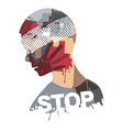 Stop Violence And War vector image