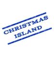 Christmas Island Watermark Stamp vector image