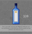 alcoholic beverage gin card template vector image
