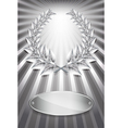Laurel award silver vector image