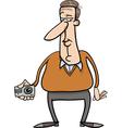 man and hidden camera cartoon vector image