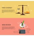 Time is money and web design vector image