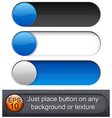Rounded glossy sliders vector image