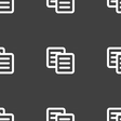 copy icon sign Seamless pattern on a gray vector image