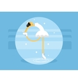 Figure skating flat style vector image
