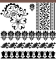 indian ornaments vector image vector image