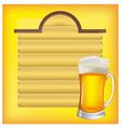 beer and menus vector image vector image
