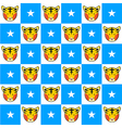 Tiger Star Blue White Chess Board Background vector image