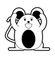 cute happy mouse icon image vector image