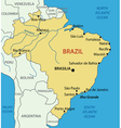 Federative Republic of Brazil - map vector image