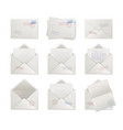 mail envelopes opened and sealed vector image