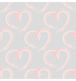 Seamless pattern of pink hearts vector image