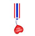 Stronger Together Heart Hanging on Stripe Tag vector image