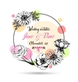Vintage wedding invitation card with hand drawn vector image