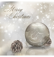 Silver Christmas greeting card vector image vector image