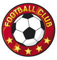 football club symbol vector image vector image