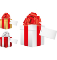 gifts note vector image vector image