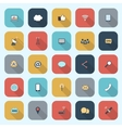 Trendy simple communication icons set in flat vector image vector image