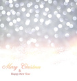 Silver christmas background with snow vector image