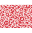 red seamless flower pattern vector image vector image