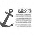 Nautical banner Design Sailor poster vector image