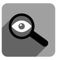 Investigate Vision Flat Square Icon with Long vector image