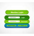 web login form vector image vector image